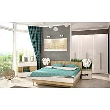 Гарнитур для спальни Ирма 10 дуб сонома/белый глянец