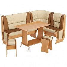 Набор кухонный Мебель Трия Уголок кухонный Уют-5 Люкс ольха/бук/коричневый