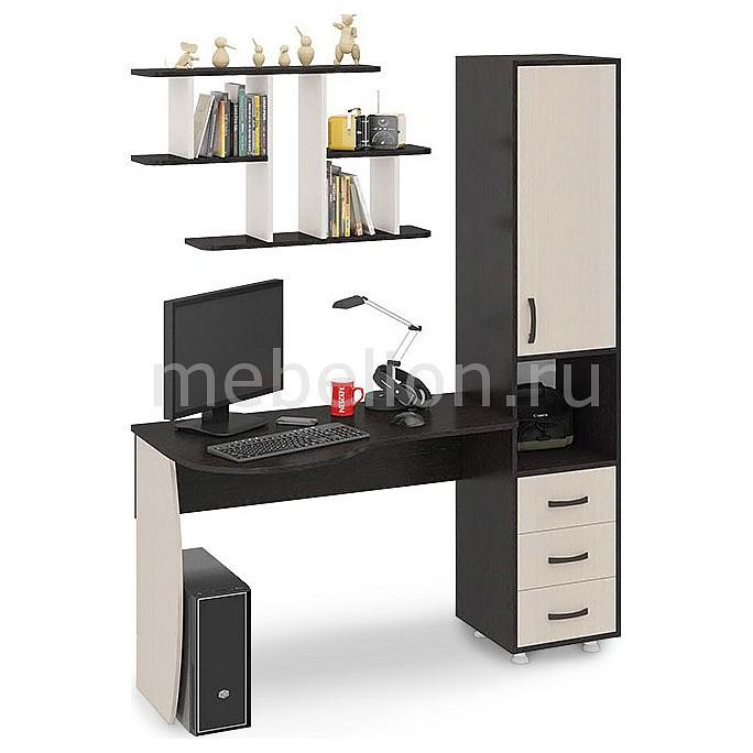 Стол компьютерный Мебель Трия Гимназист (М) венге цаво/дуб молочный стол компьютерный мебель трия профи м венге цаво дуб молочный с рисунком