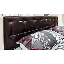 Кровать двуспальная Токио СМ-131.12.002 венге цаво/кожа темная