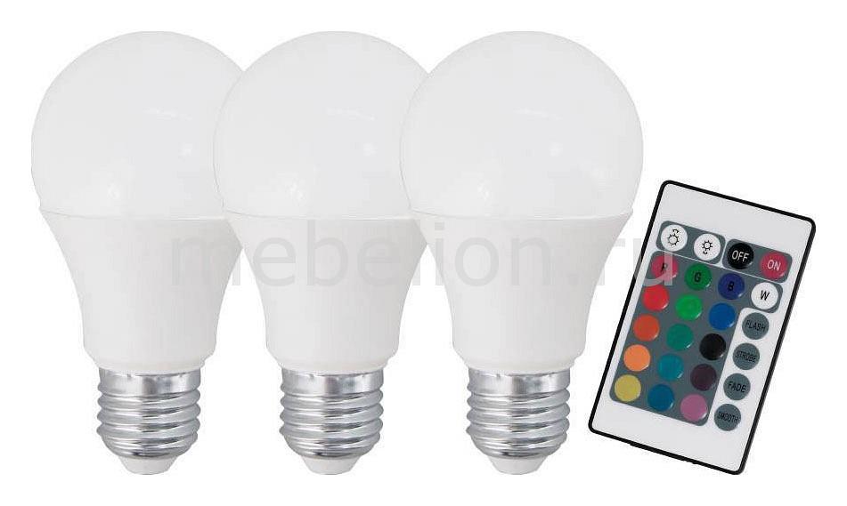 Комплект из 3 ламп светодиодных диммируемых с пультом ДУ Eglo A60 E27 60Вт 3000K 10681