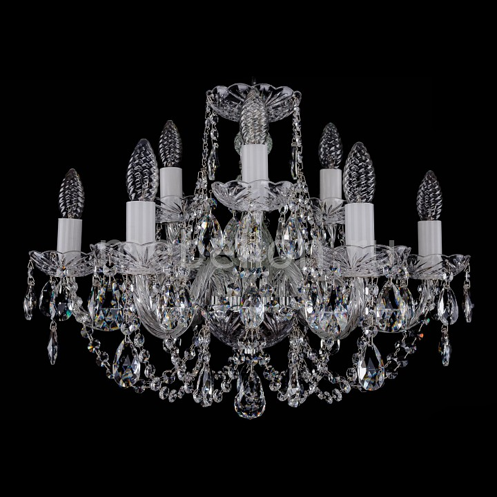 Подвесная люстра Bohemia Ivele Crystal 1406/6_3/195/Ni 1406