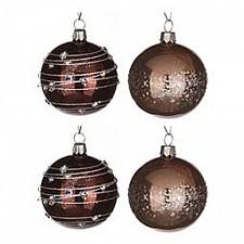 Набор елочных шаров АРТИ-М Набор из 4 елочных шаров (6 см) Меридиан 860-519