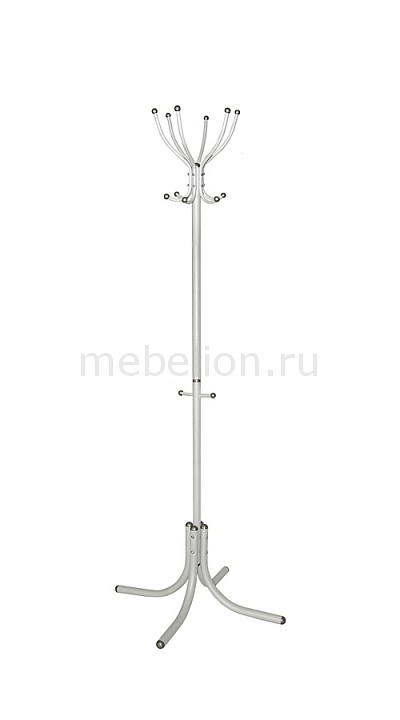 Вешалка напольная Мебелик Вешалка-стойка М-6 алюминий мебелик вешалка напольная м 5 мек цвет алюминий