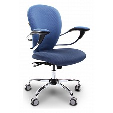 Кресло компьютерное Chairman 686 голубой/хром, черный