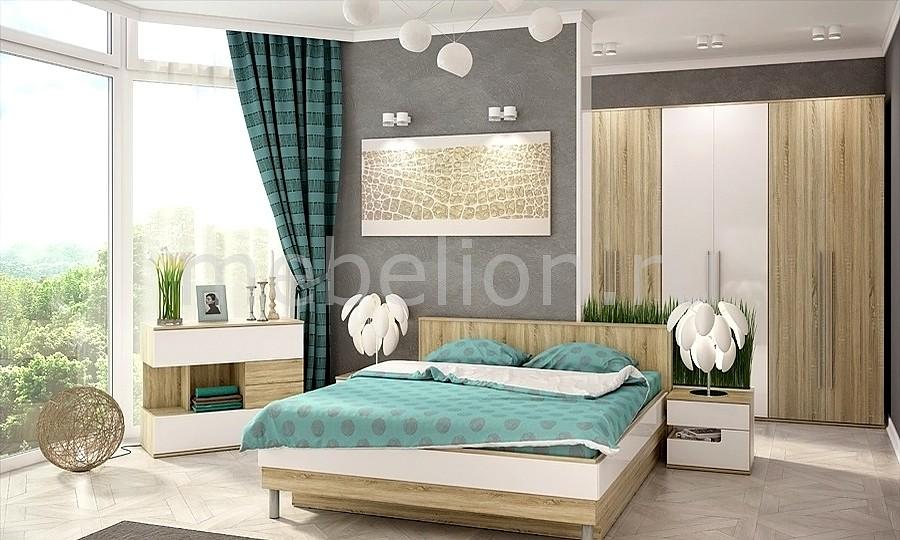 Гарнитур для спальни Ирма 19 дуб сонома/белый глянец