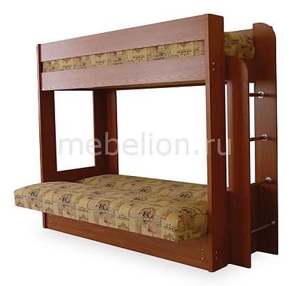 Диван-кровать двухъярусная 8206-00 вишня/гобелен