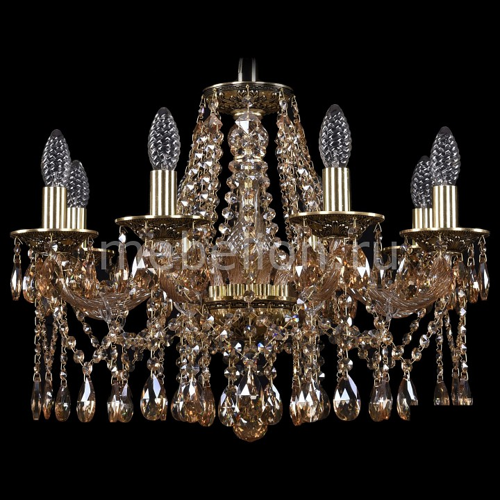 Подвесная люстра Bohemia Ivele Crystal 1613/8/200/GB/M721 подвесная люстра bohemia ivele crystal 1613 8 200 gb m721