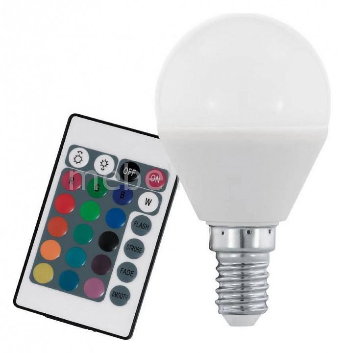 Лампа светодиодная диммируемая с пультом ДУ P45-RGBW E14 4Вт 3000K 10682