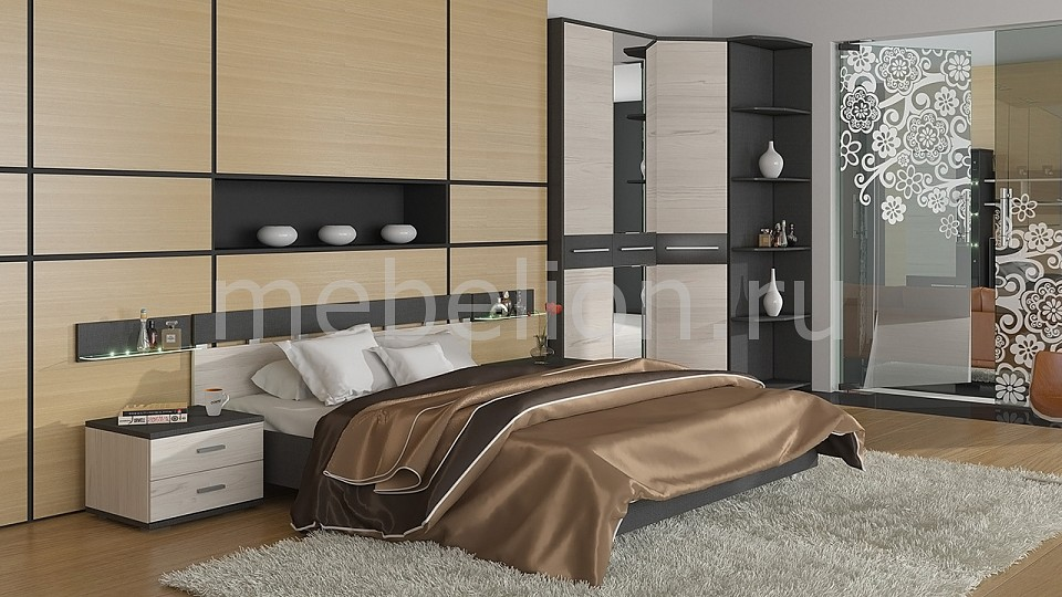 Гарнитур для спальни Сити ГН-194.002 тексит/каттхилт