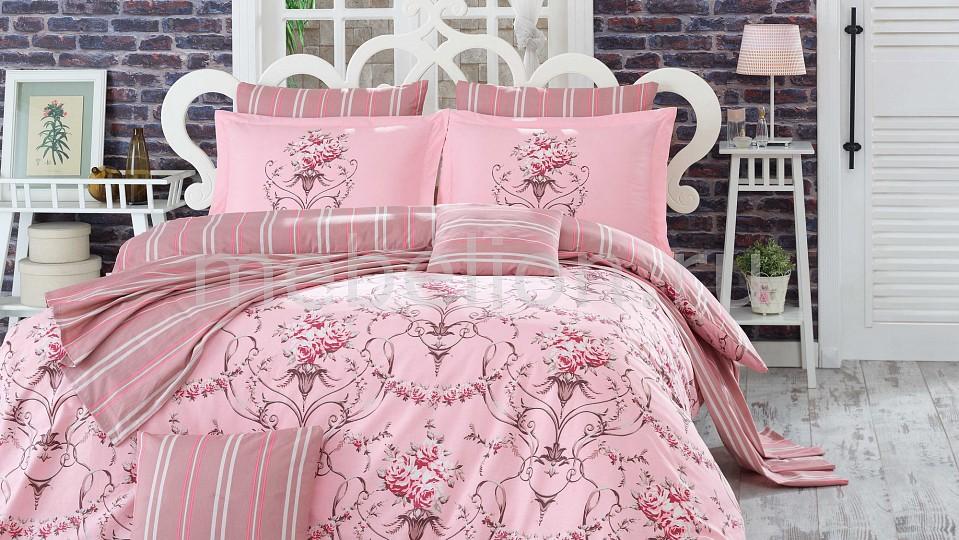 Комплект двуспальный HOBBY Home Collection ORNELLA постельное белье hobby home collection кпб 2 сп евро поплин ornella розовый