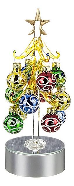 Ель световая с елочными игрушками АРТИ-М (20 см) ART 594-043 ель новогодняя с елочными шарами арти м 15 см art 594 019