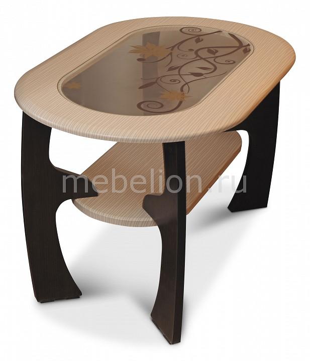 Стол журнальный Олимп-мебель Маджеста-2 1250127 венге/белый дым