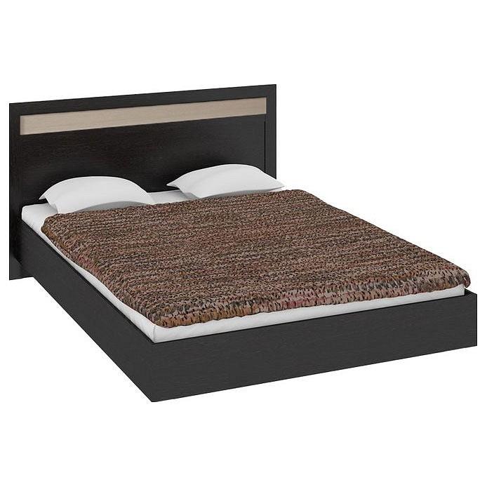 Кровать двуспальная Мебель Трия Токио СМ-131.12.001 венге цаво/венге цаво/дуб белфорт