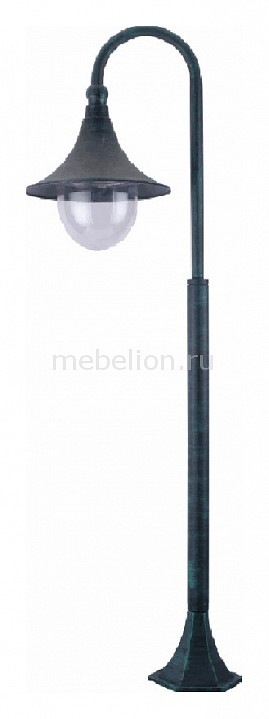 Наземный высокий светильник Malaga A1086PA-1BG Arte Lamp Артикул - AR_A1086PA-1BG, Бренд - Arte Lamp (Италия), Серия - Malaga, Ширина, мм - 250, Высота, мм - 1200, Выступ, мм - 310, Диаметр, мм - 250, Размер упаковки, мм - 360x240x410, Тип крышек, ручек, элементов - E27, Размер упаковки, мм - 360x240x410