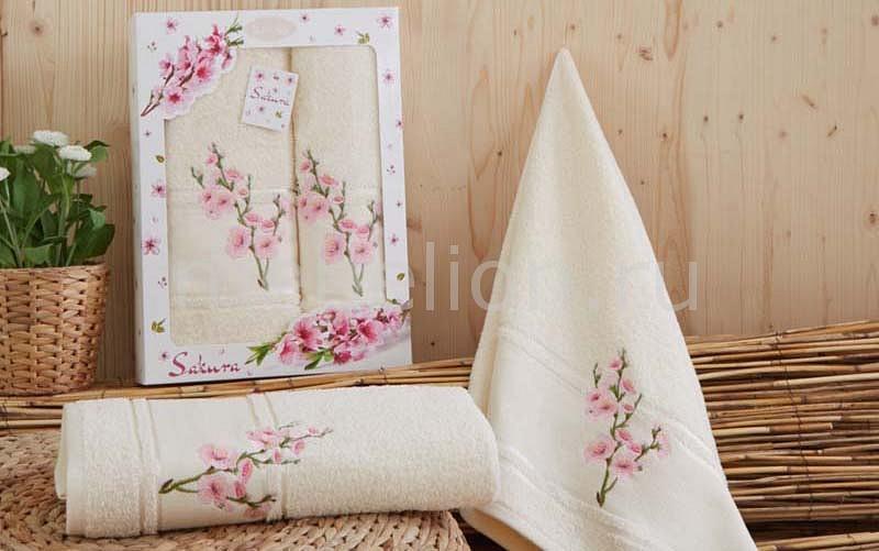 Набор полотенец для ванной Karna Набор из 2 полотенец для ванной SAKURA набор из 3 полотенец merzuka sakura 50х90 2 70х140 8432 оранжевый