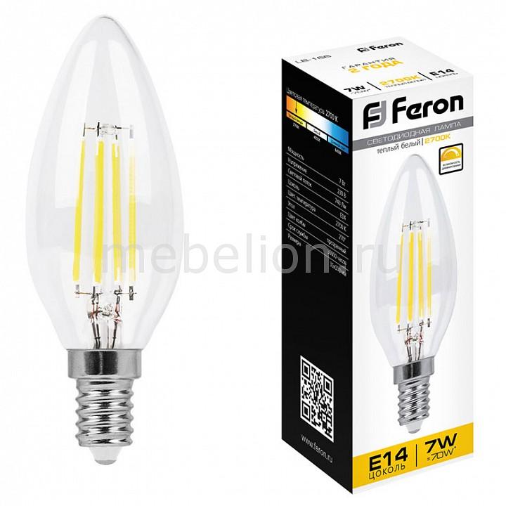 Лампа светодиодная Feron LB-166 E14 7Вт 220В 2700 K 25870 лампа светодиодная gauss none gu5 3 7вт 220в 2700 k 101505107