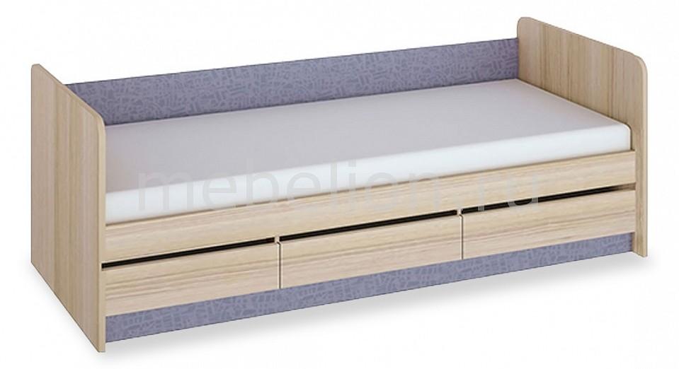 Кровать Индиго ПМ-145.15 ясень коимбра/навигатор  тумба для обуви белгород
