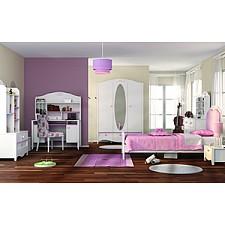 Гарнитур для детской Crown белый/розовый