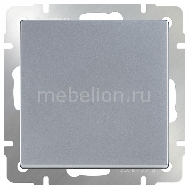Выключатель одноклавишный без рамки Werkel Серебряный WL06-SW-1G chkj серебряный 42 мм
