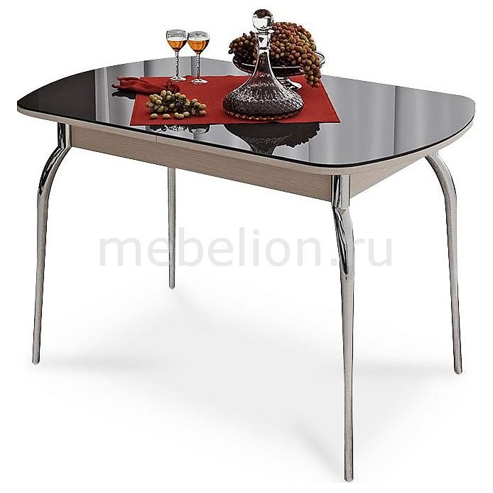 Стол обеденный Мебель Трия Милан хром/дуб белфорт/коричневый стол обеденный мебель трия милан см 203 23 15