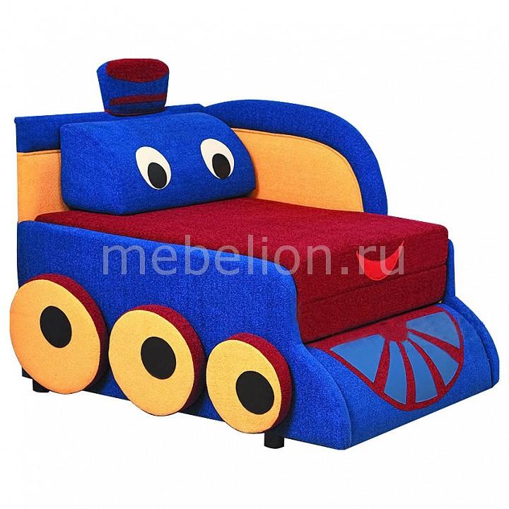 Купить Диван-кровать Мася-7 Паровозик 8121127 синий/красный/желтый, Олимп-мебель, Россия