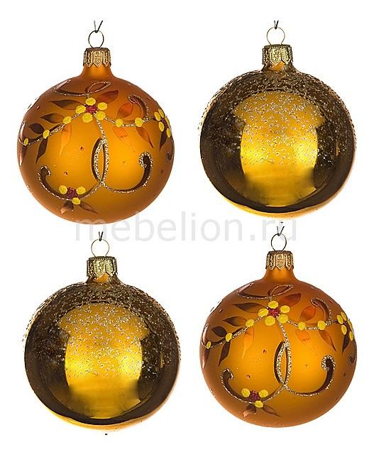 Набор из 4 елочных шаров (7.5 см) Злата 860-505