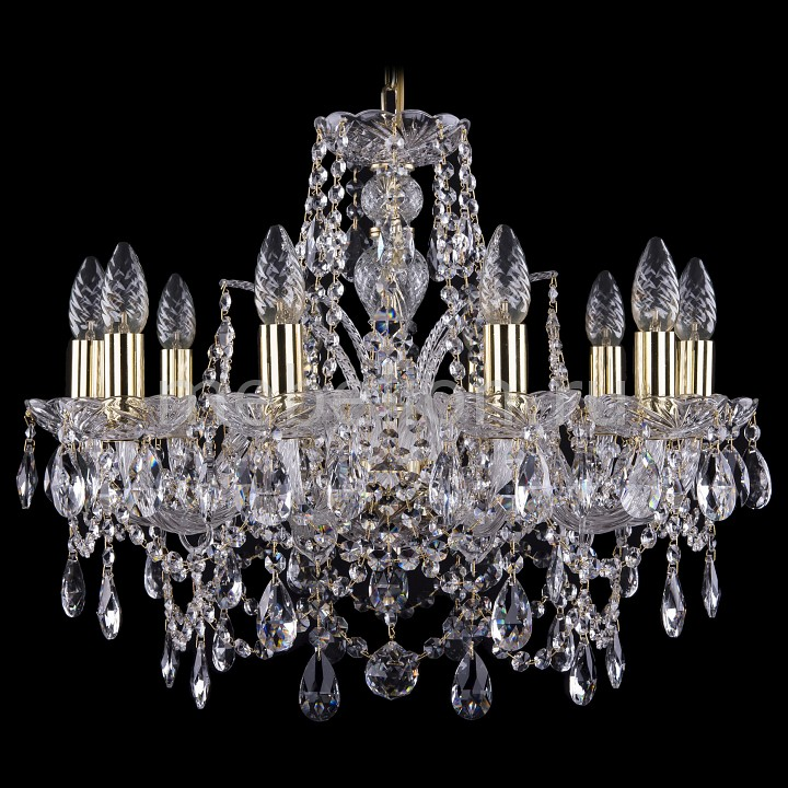 Подвесная люстра Bohemia Ivele Crystal 1411/10/195/G 1411