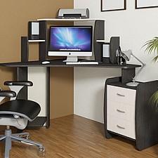 Стол компьютерный угловой Сэн Сэй-2 (М) венге цаво/дуб молочный