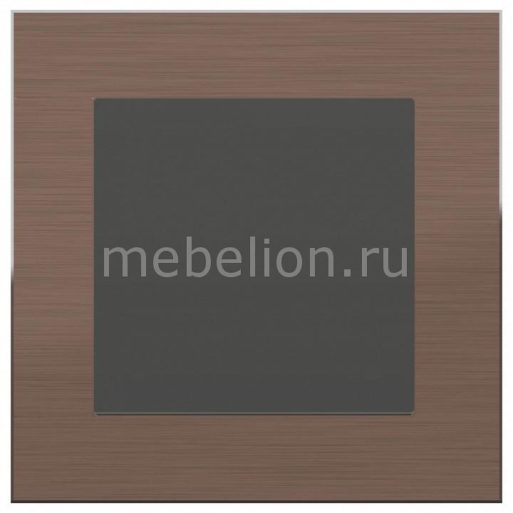 Заглушка для поста с рамкой Aluminium (Серо-коричневый) WL11-Frame-01+WL07-70-11 Aluminium (Серо-коричневый) WL11-Frame-01+WL07-70-11