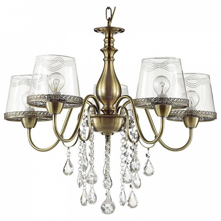 Подвесная люстра Odeon Light Sebastina 3467/5 odeon light 3467 5 odl17 000 бронза стекло метал декор хрусталь люстра e14 5 60w 220v sebastina