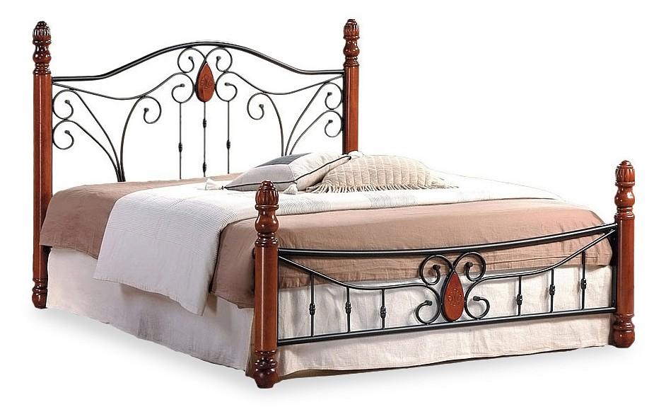 Кровать полутораспальная Tetchair 9003 красное дерево/черный