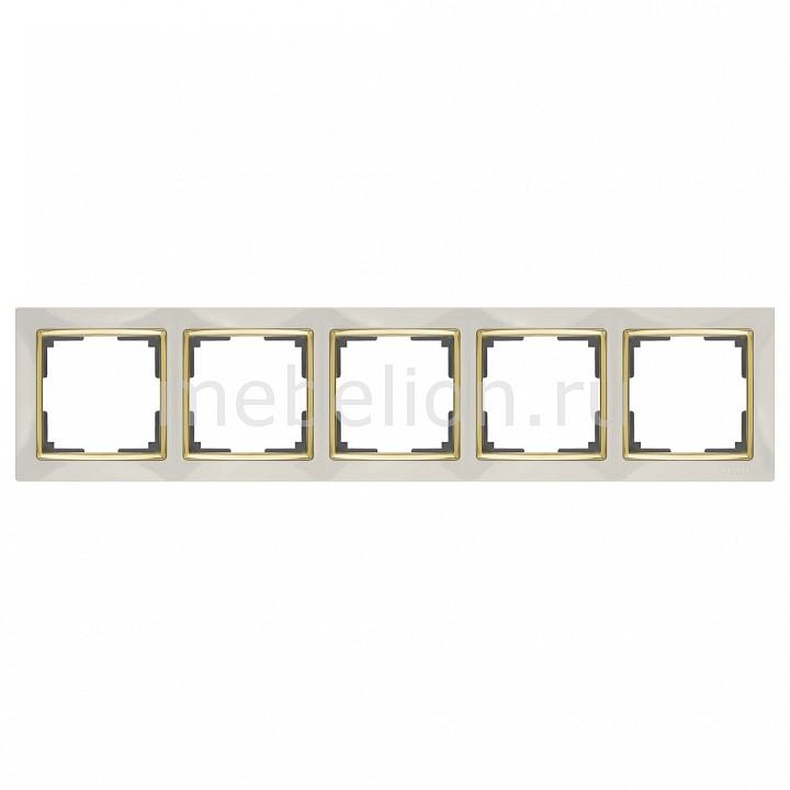 Рамка на 5 постов Werkel Snabb WL03-Frame-05-ivory-GD werkel рамка snabb на 5 постов слоновая кость золото werkel wl03 frame 05 ivory gd 4690389083945