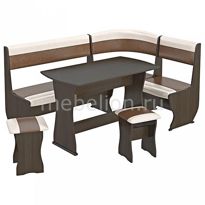 Набор кухонный Мебель Трия Уголок кухонный Уют-1 К Люкс венге/«Санчо»/коричневый