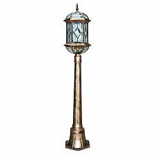 Наземный высокий светильник Витраж с ромбом 11338
