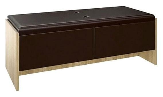 Банкетка Ирма СТЛ.143.04 дуб сонома/шоколад глянец  пеленальный комод купить в новосибирске