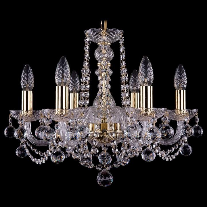 Подвесная люстра Bohemia Ivele Crystal 1402/6/160/G/Balls 1402
