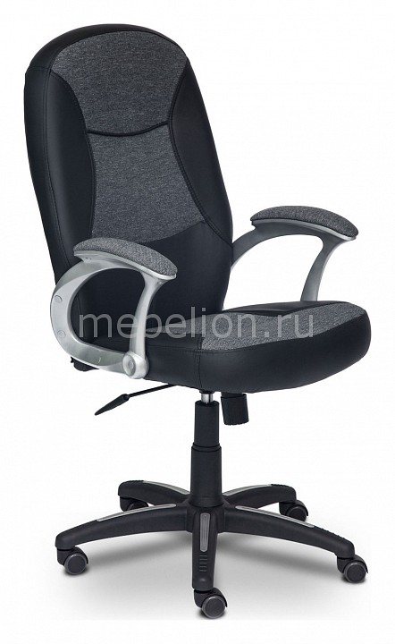 Кресло компьютерное Компакт серое  столик журнальный со встроенным светильником