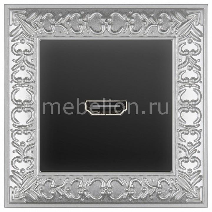 Розетка HDMI Werkel Antik (Черный матовый) WL08-04-01+WL08-60-11 акустическая розетка х4 черный матовый wl08 audiox4 4690389063725