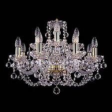 Подвесная люстра Bohemia Ivele Crystal 1406/8_4/195/G/Balls 1406