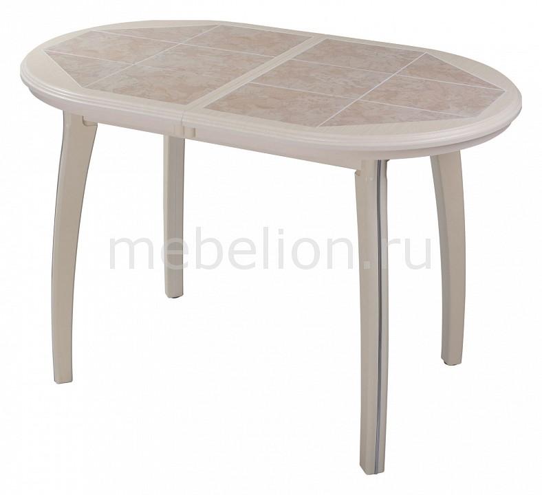 Стол обеденный Домотека Шарди О с плиткой и мозаикой