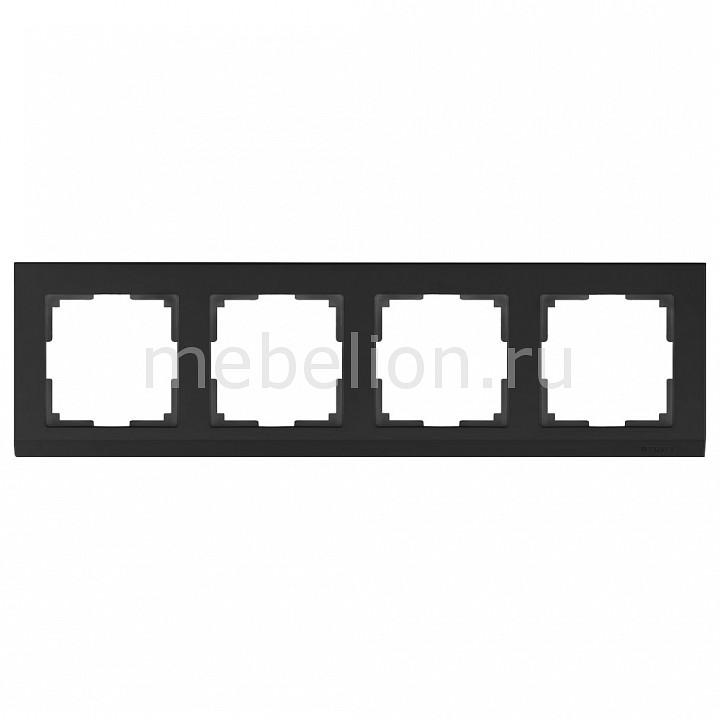 Рамка на 4 поста Werkel Stark WL04-Frame-04-black stark s103 black