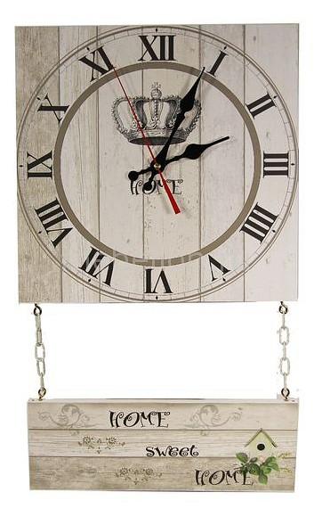 Настенные часы Акита (30х52 см) С подвесным декором C71