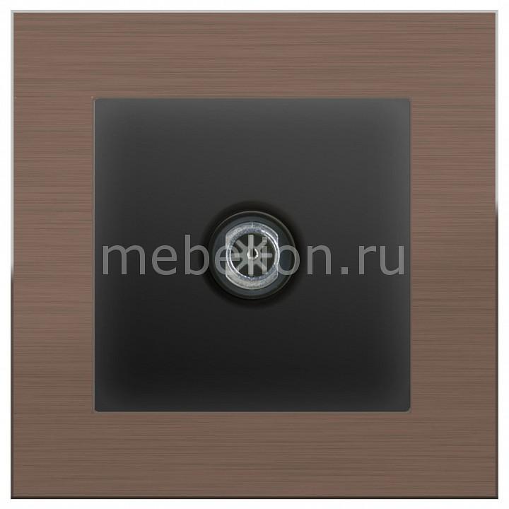 ТВ-розетки оконечные Werkel без рамки Aluminium (Черный матовый) WL08-TV-2W+WL08-TV датчики сигнализации homi security hg wl08