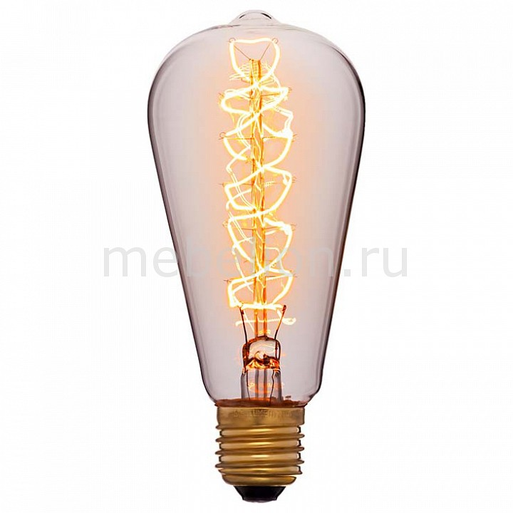 Лампа накаливания Sun Lumen ST64 E27 240В 40Вт 2200K 051-927