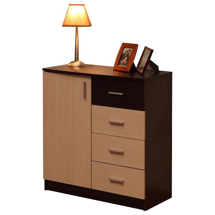 Купить Тумба Дуэт-5 венге/дуб линдберг, Олимп-мебель, Россия