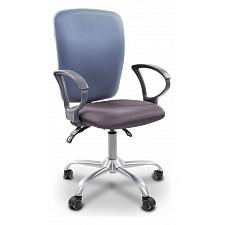 Кресло компьютерное Chairman 9801 голубой, серый/серебро