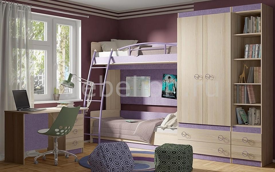 Гарнитур для детской Мебель Трия Индиго ГН-145.019 ясень коимбра/навигатор