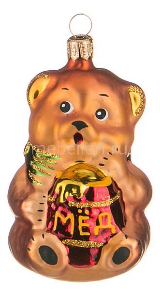 Елочная игрушка (10 см) Мишка с мёдом 860-350