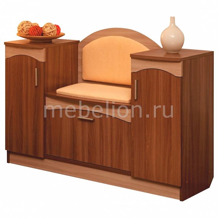 Тумба для обуви Олимп-мебель Фиеста-2 2740627 ясень шимо темный/ясень шимо светлый цены
